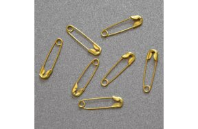 SAFETY PINS GOLD 20mm